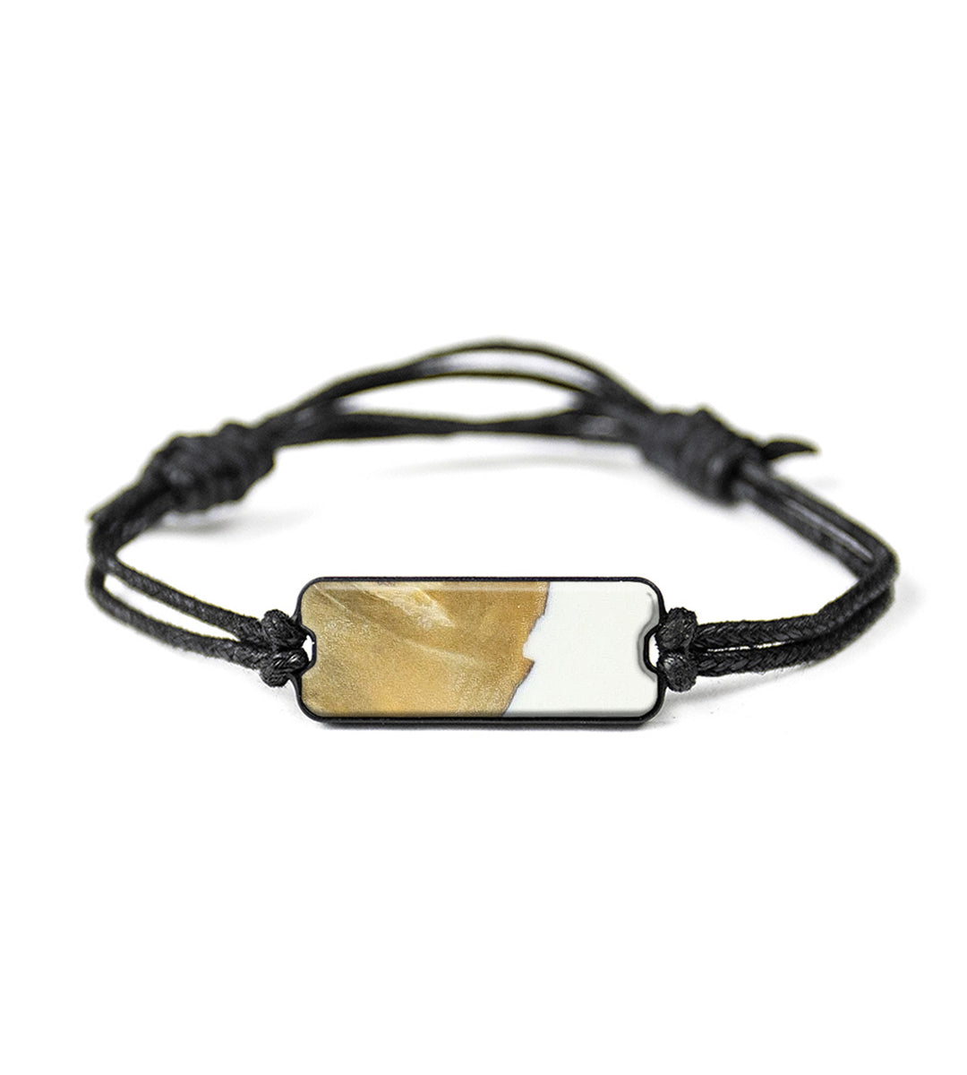 Classic Wood+Resin Bracelet - Cornelis (Black & White, 394163)
