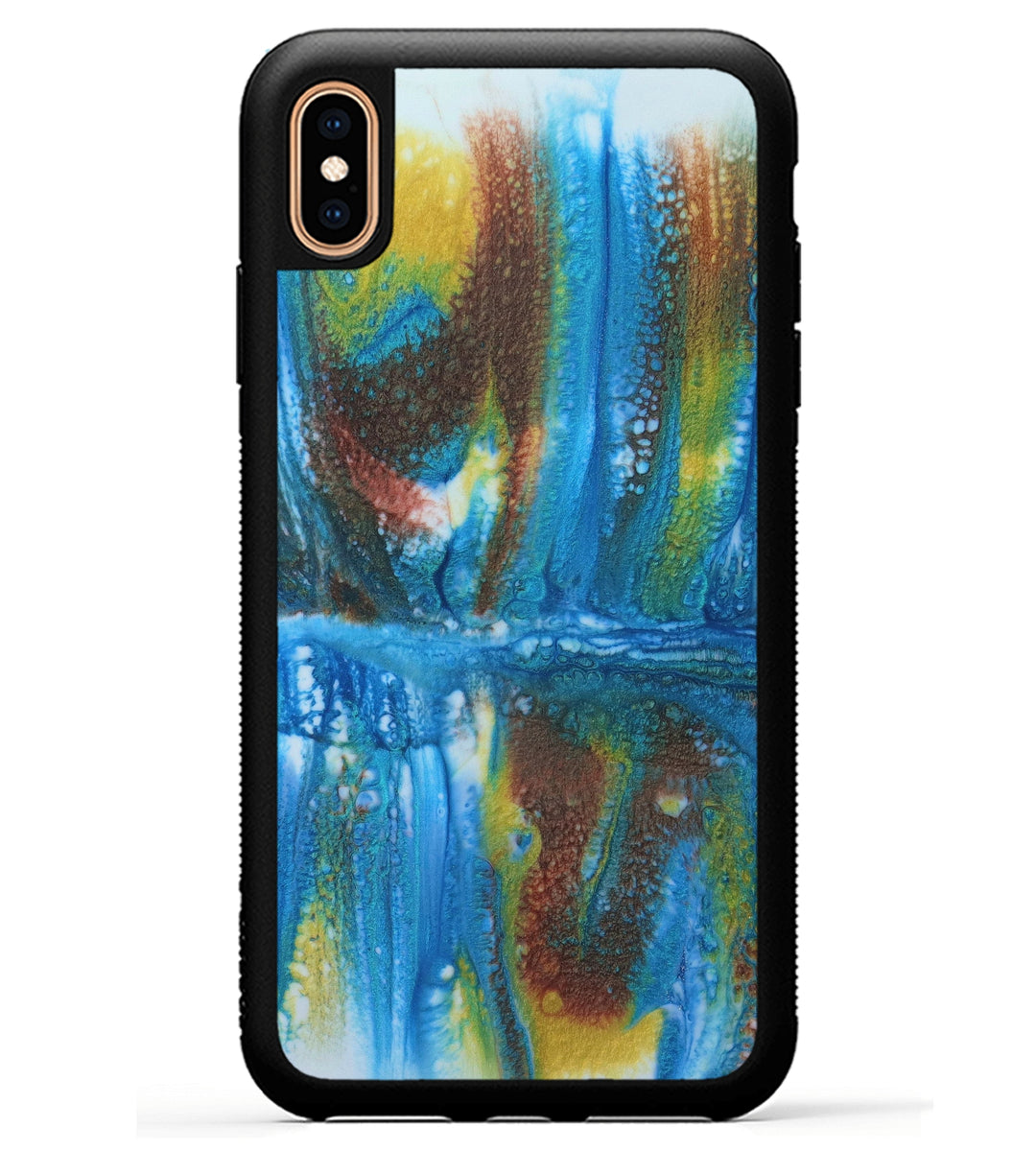 iPhone Xs Max Case - Rejeanne (Teal & Gold, 345934)