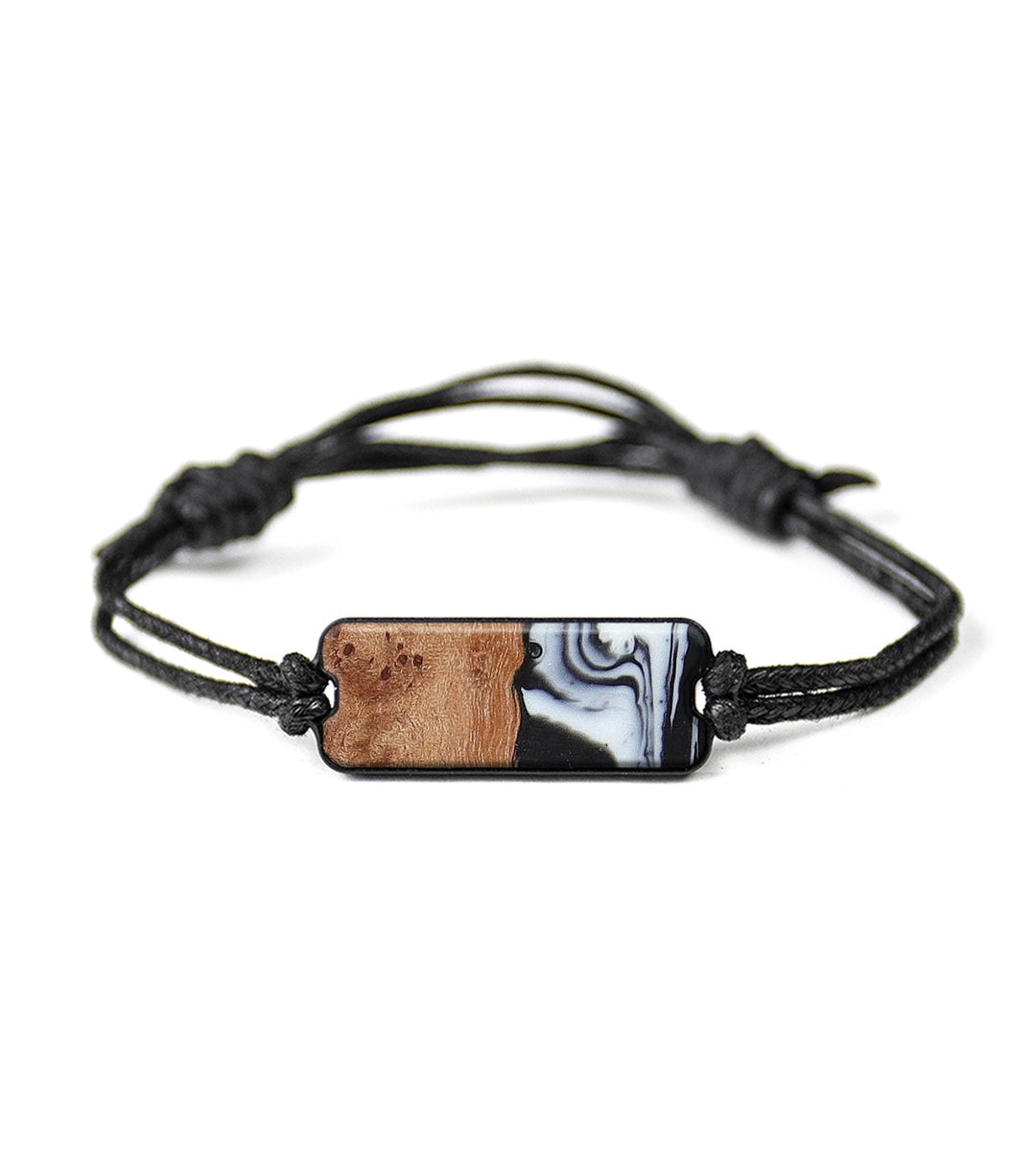 Classic Wood+Resin Bracelet - Fayina (Black & White, 394154)
