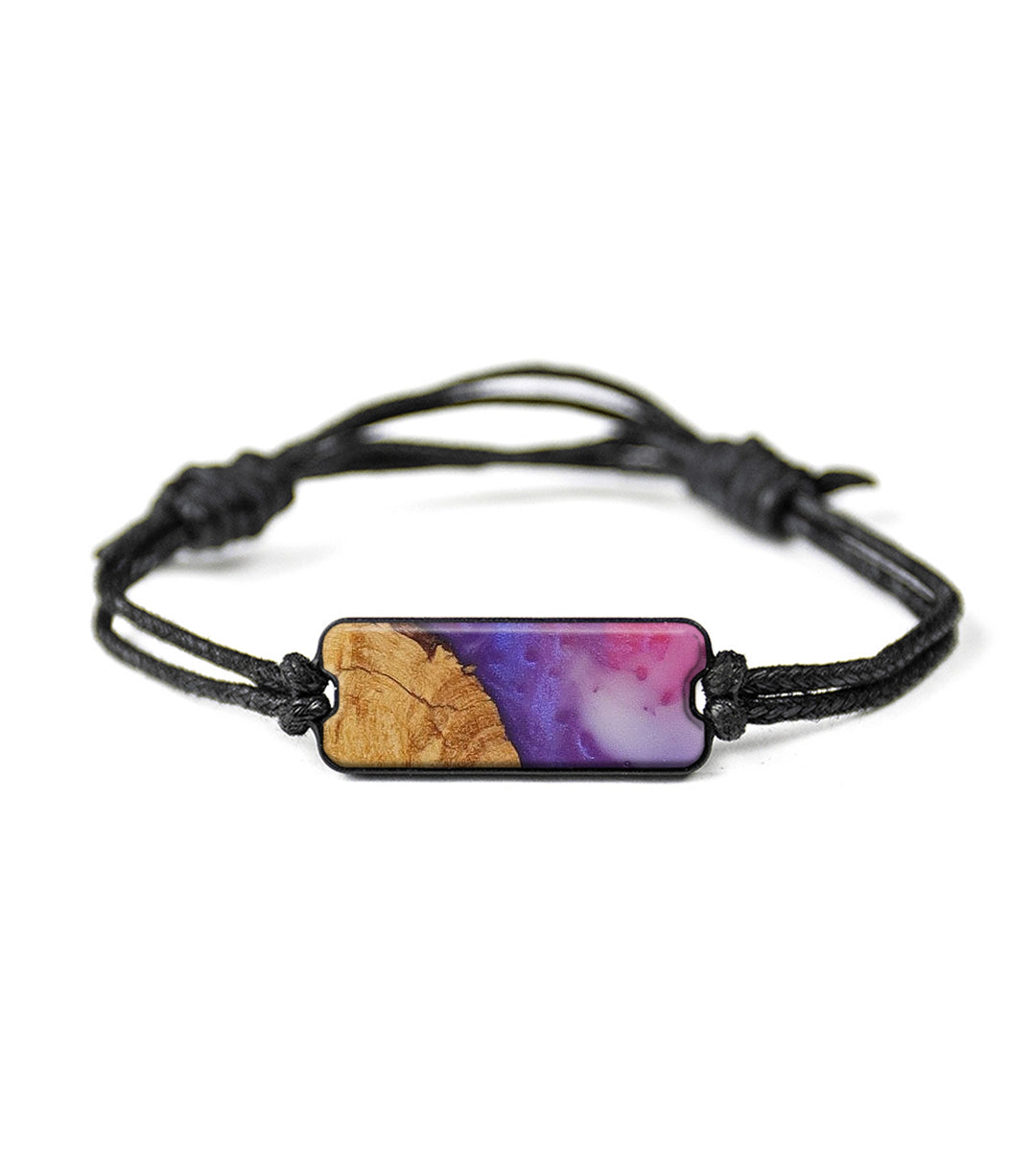 Classic Wood+Resin Bracelet - Leonelle (Purple, 394027)