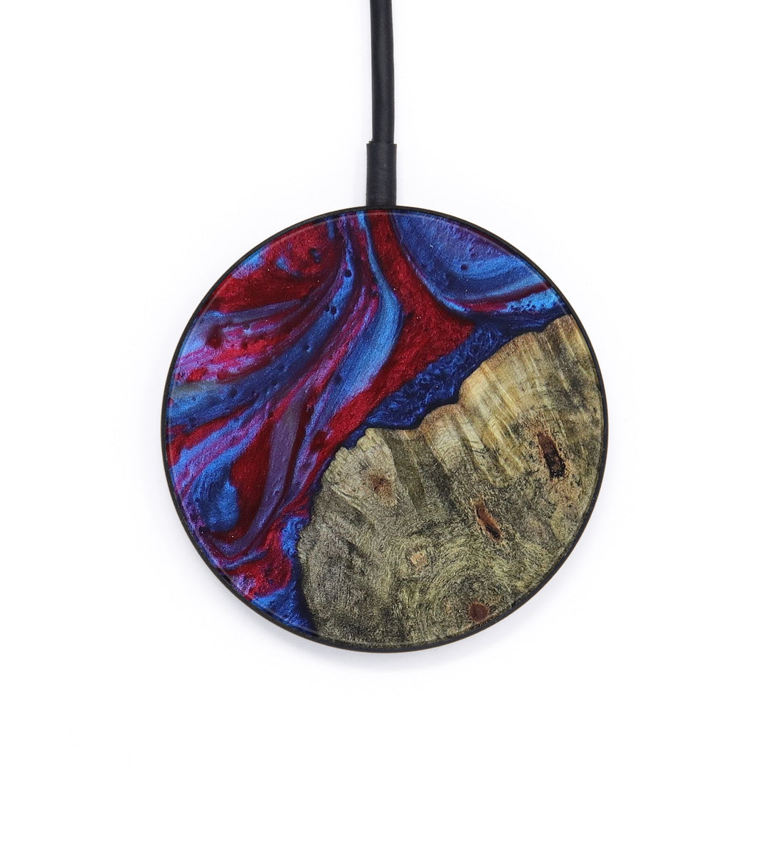 Circle Wood+Resin Wireless Charger - Koren (Dark Blue, 392839)