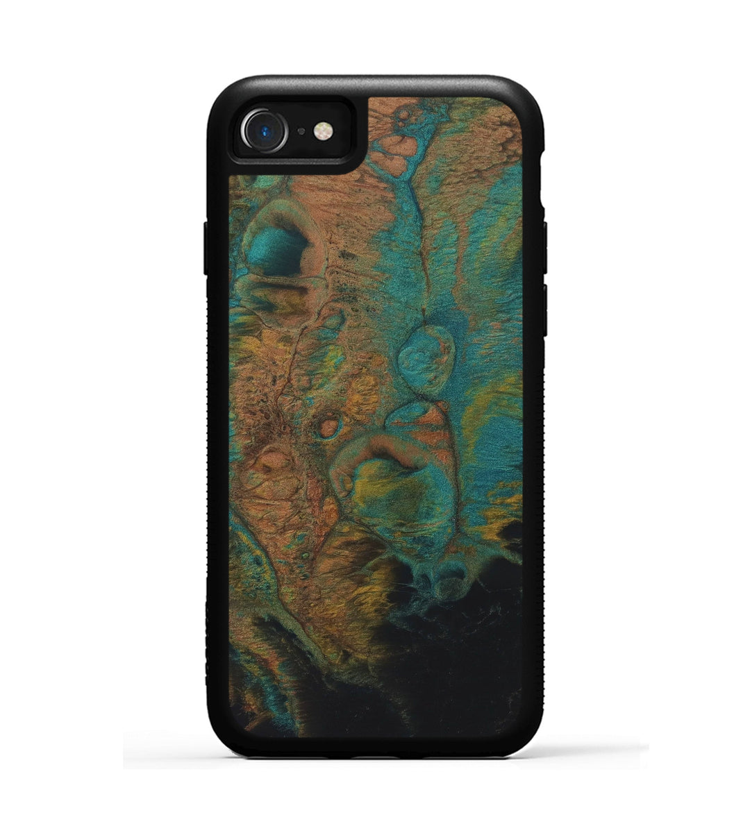 iPhone 8 ResinArt Phone Case - Andrea (Teal & Gold, 347663)