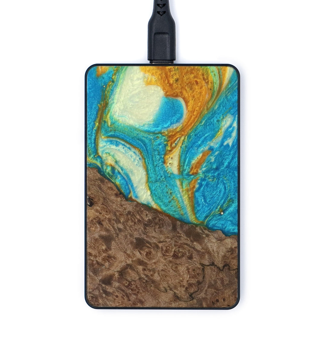 Thin Wireless Charger - Shashank (Teal & Gold, 335337)
