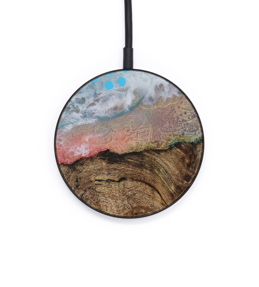 Circle Wood+Resin Wireless Charger - Sky (Graffiti, 428836)