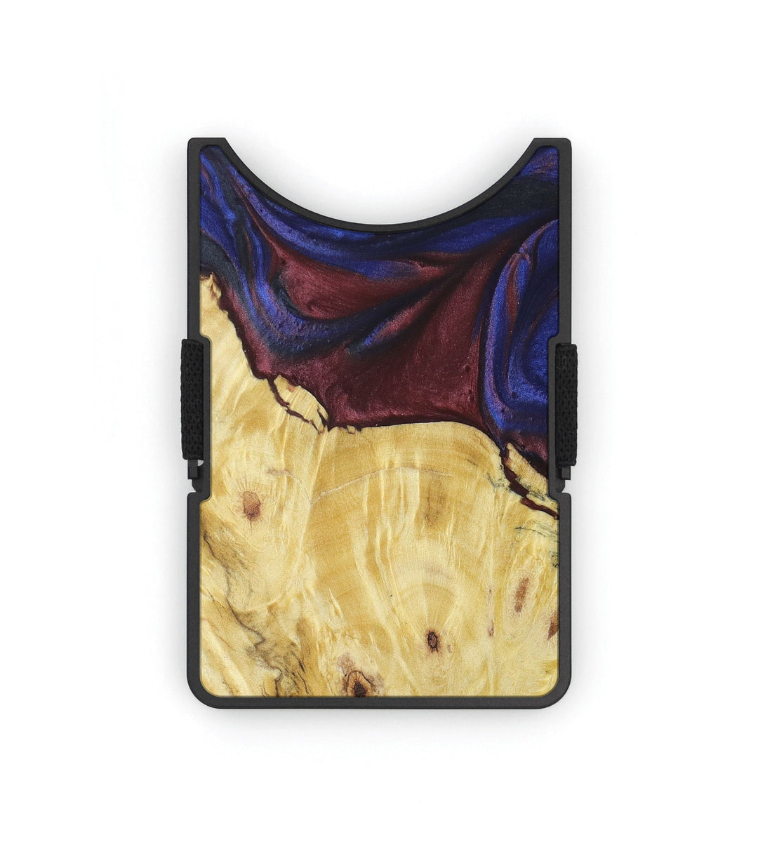 Alloy Wood+Resin Wallet - Dore (Blue & Red, 399437)