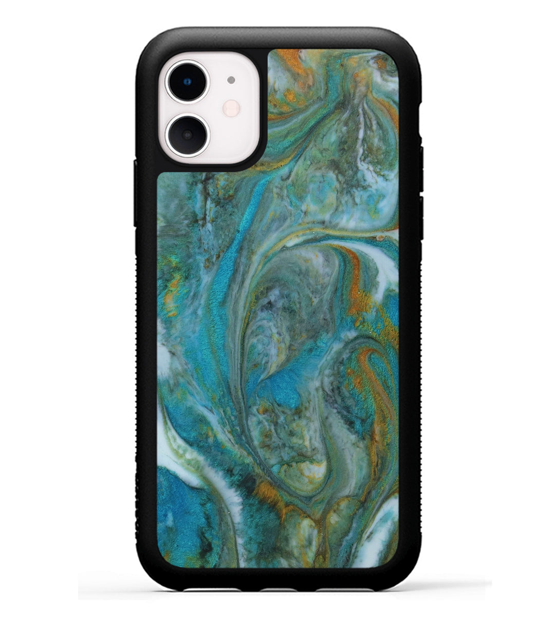 iPhone 11 Case - Kiyoon (Teal & Gold, 347102)