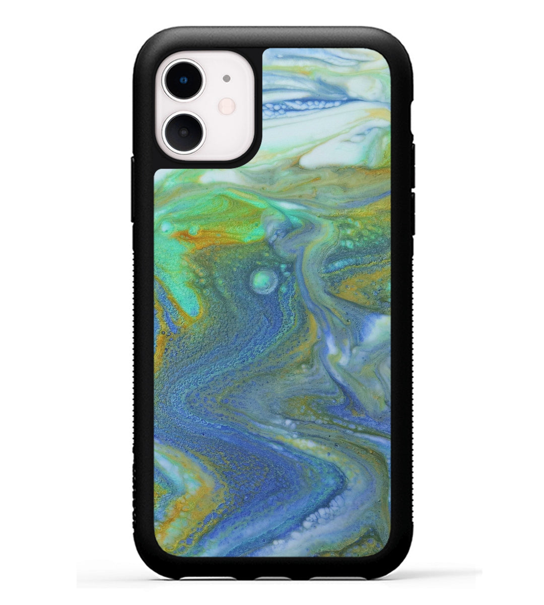 iPhone 11 Case - Zahid (Teal & Gold, 346656)