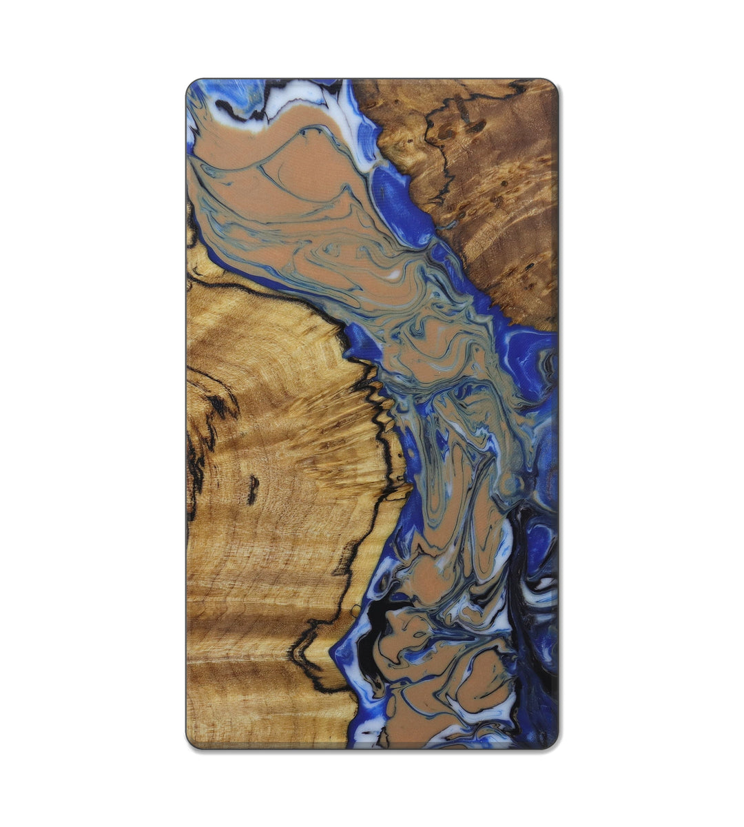 Custom Block Wood+Resin Live Edge - Genevra (Teal & Gold, 421447)