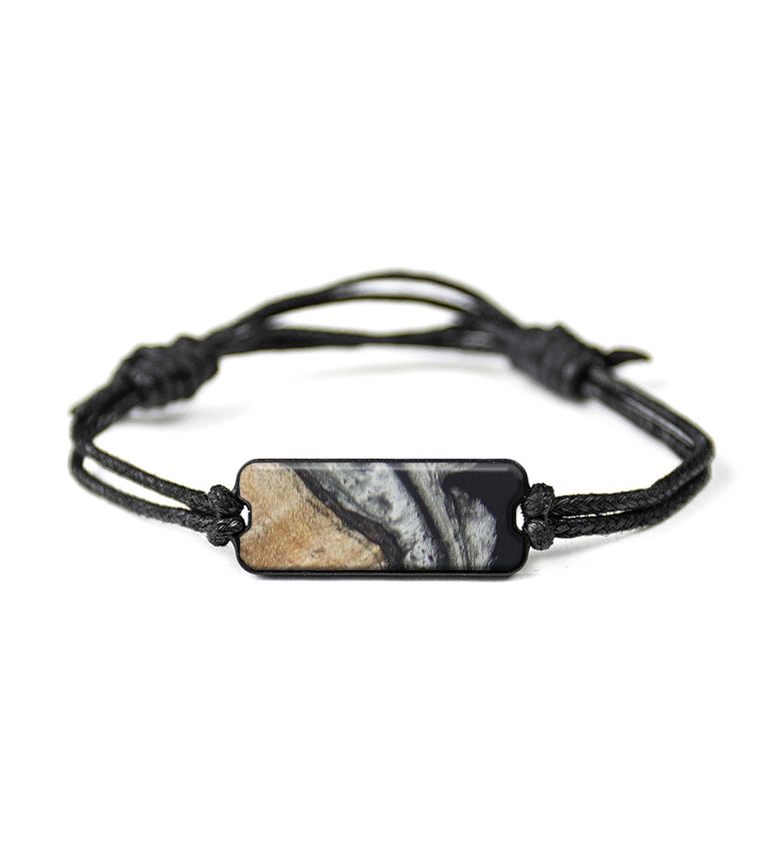 Classic Wood+Resin Bracelet - Parminder (Black & White, 393705)