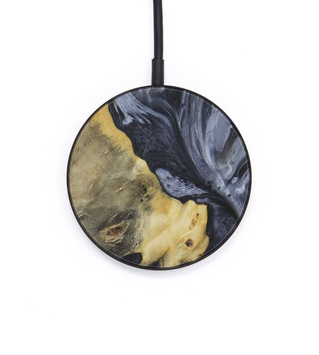 Circle Wood+Resin Wireless Charger - Zabrina (Gunmetal, 407193)