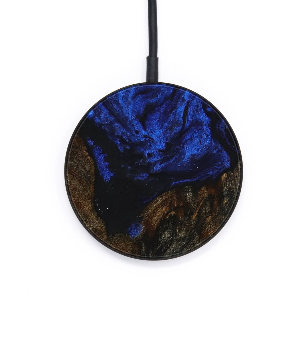 Circle Wood+Resin Wireless Charger - Henry (Dark Blue, 392927)