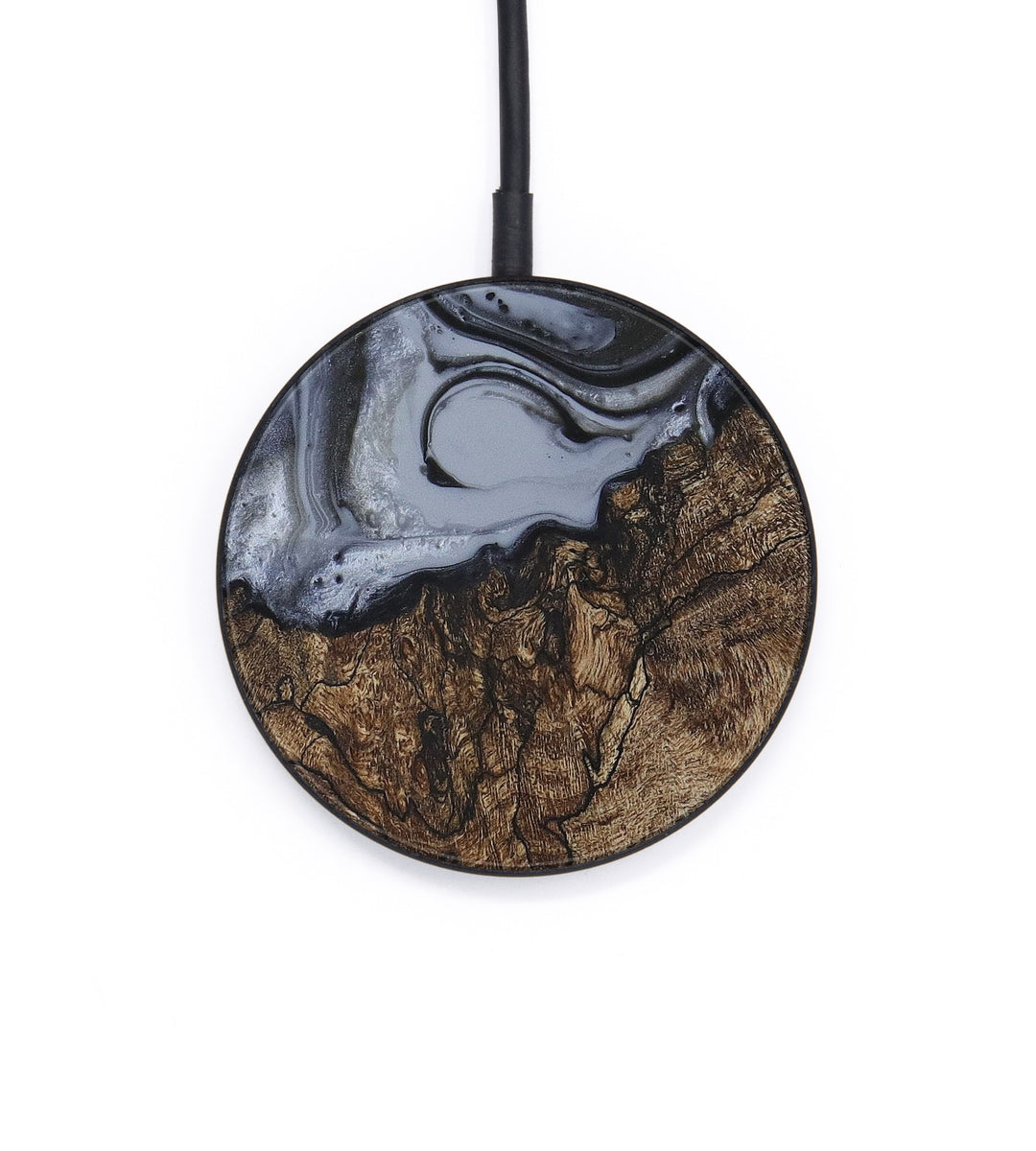 Circle Wood+Resin Wireless Charger - Modestine (Gunmetal, 407139)