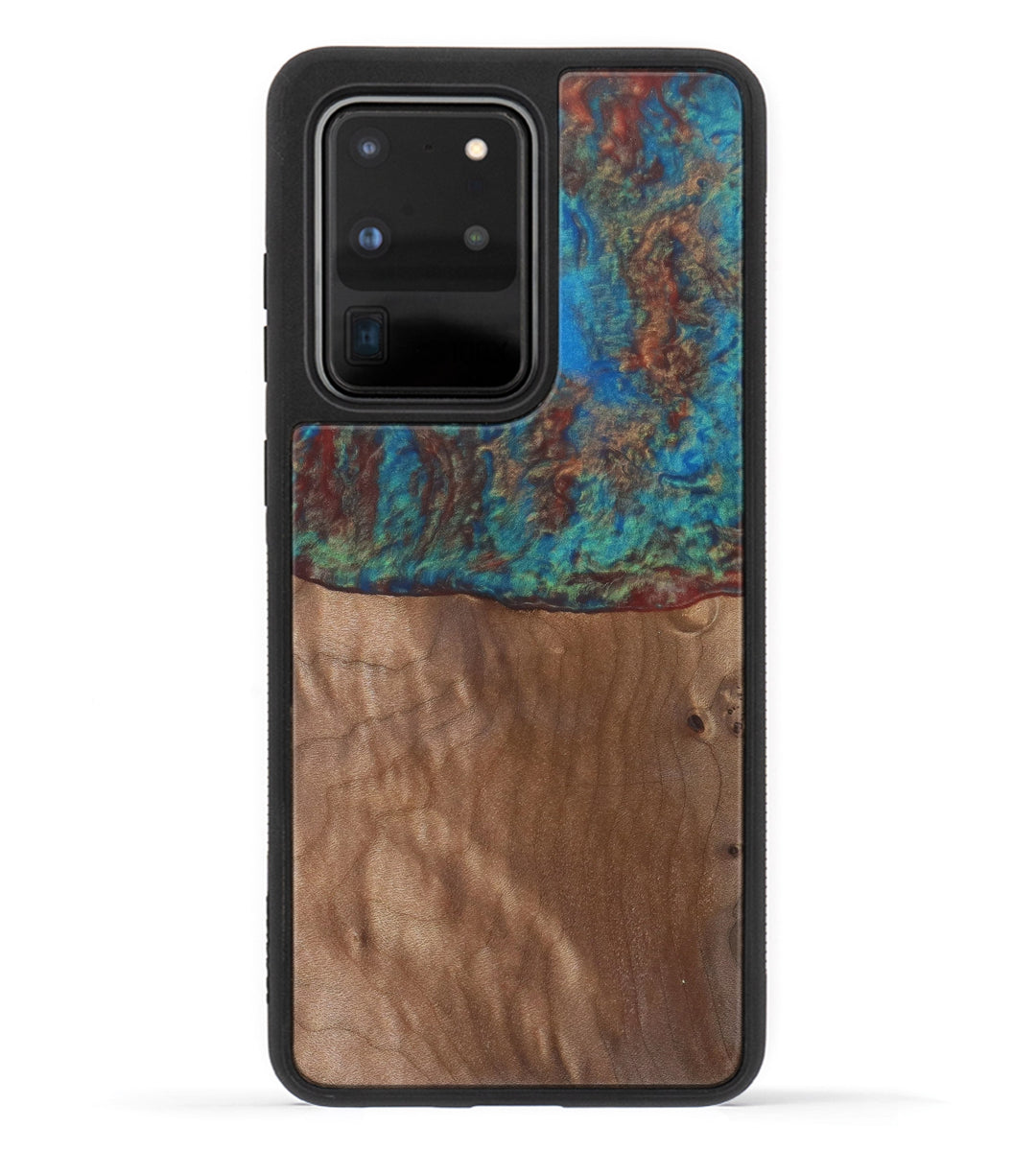 Galaxy S20 Ultra Wood+Resin Case - Amandie (Blue & Red, 333728)