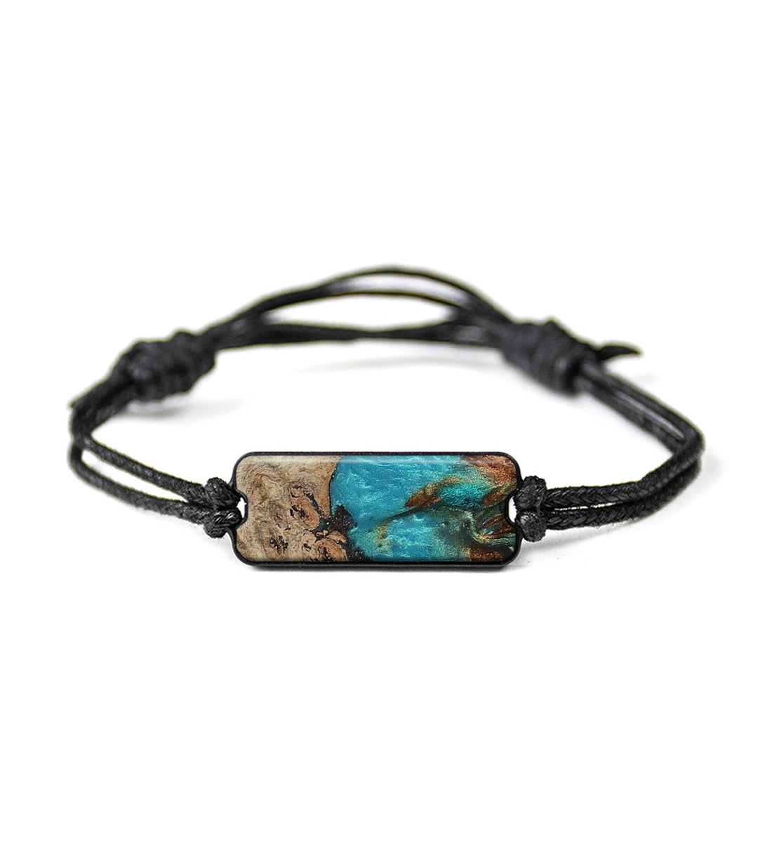 Classic Wood+Resin Bracelet - Chrissy (Teal & Gold, 395426)