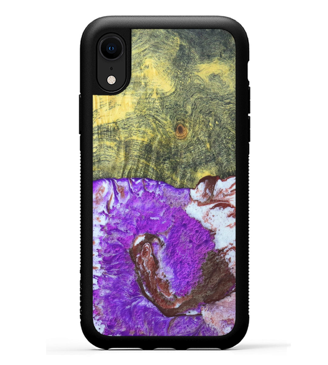 iPhone Xr Wood+Resin Case - Methi (Purple, 333063)