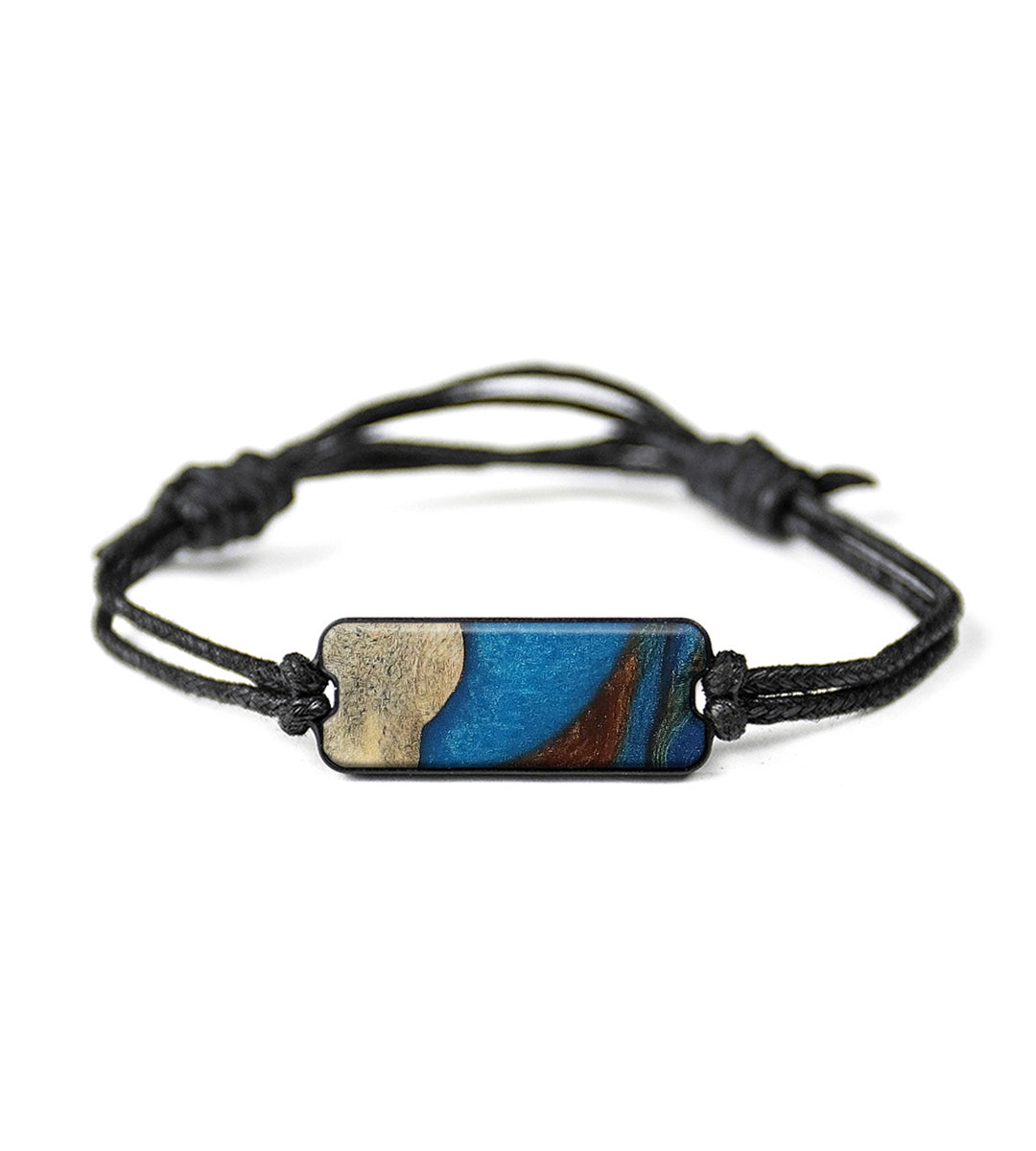 Classic Wood+Resin Bracelet - Robinetta (Teal & Gold, 395428)