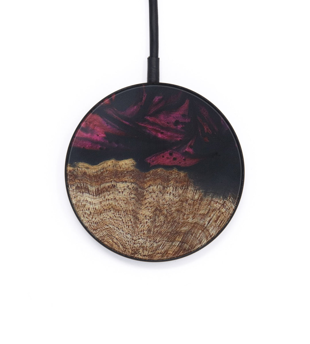Circle Wood+Resin Wireless Charger - Alisun (Dark Red, 406356)