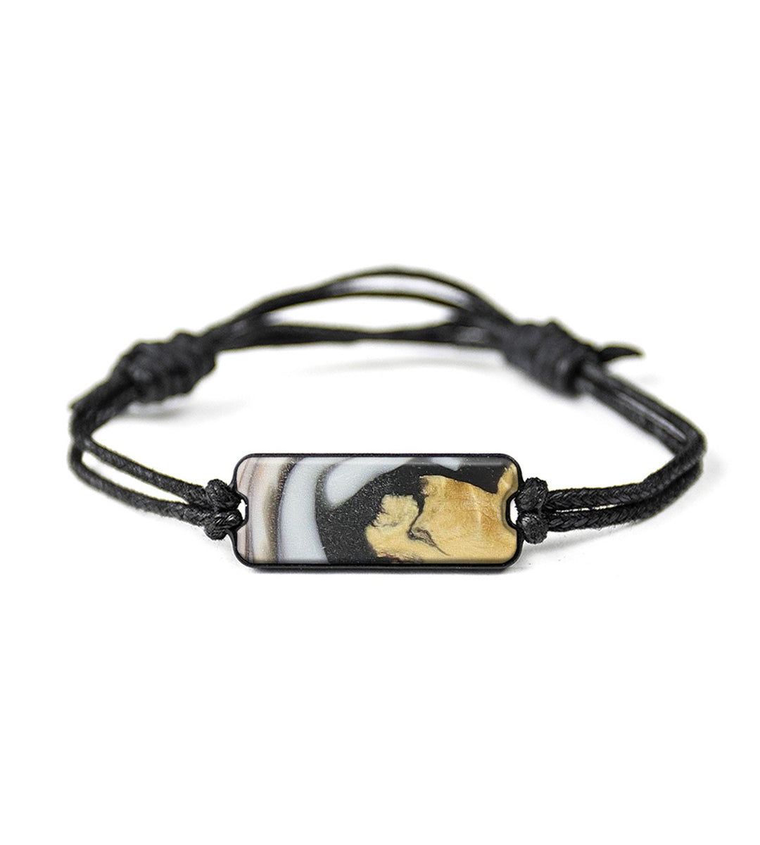 Classic Wood+Resin Bracelet - Raphaela (Black & White, 368573)