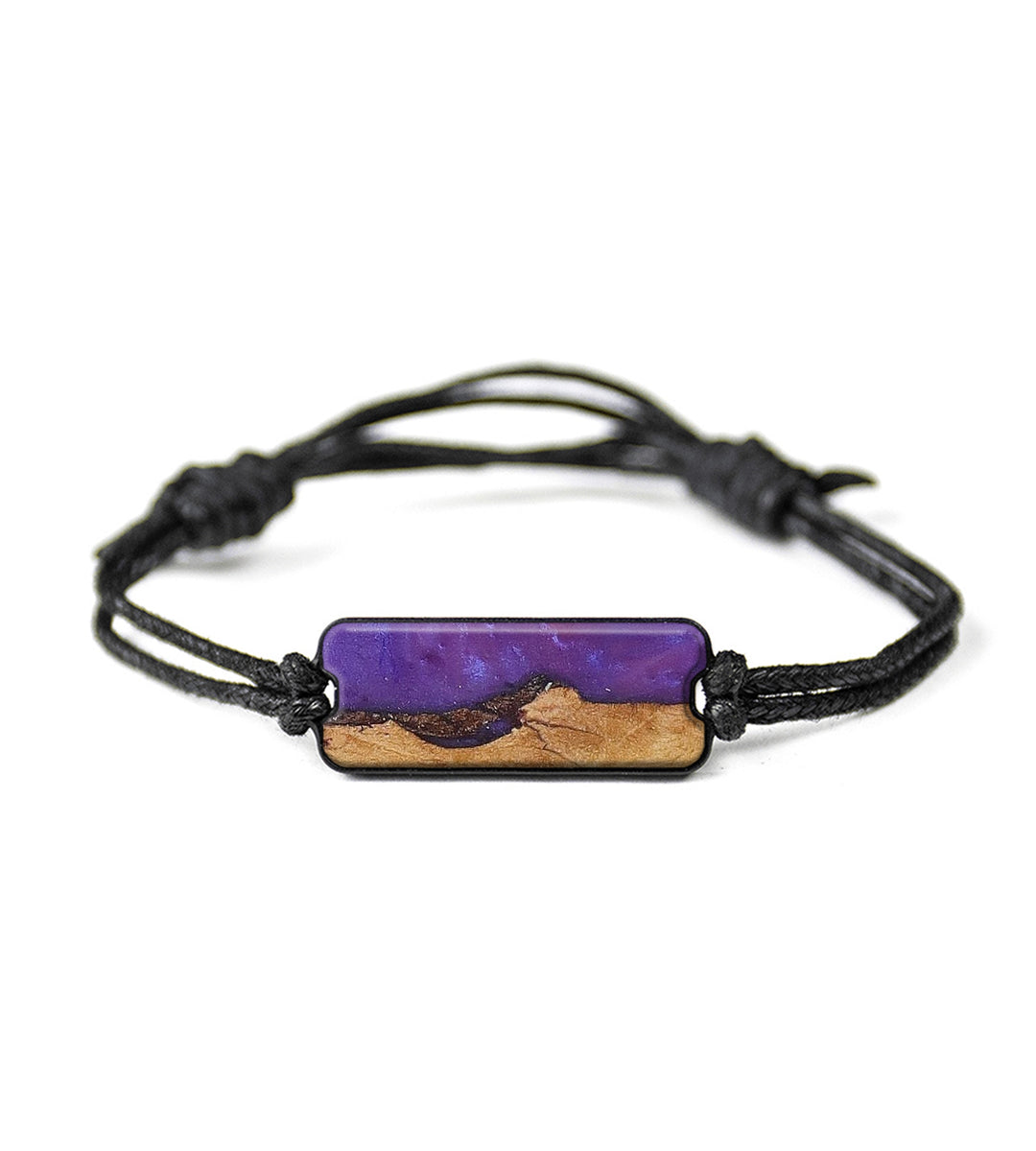 Classic Wood+Resin Bracelet - L;urette (Purple, 393436)