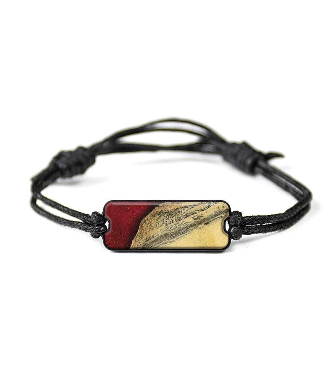 Classic Wood+Resin Bracelet - Hukam (Dark Red, 358242)