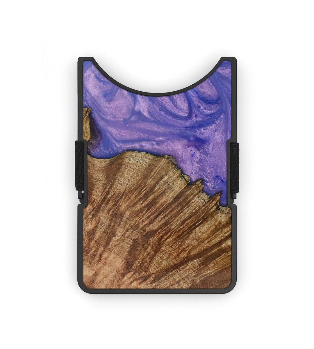 Alloy Wood+Resin Wallet - Mike (Purple, 399907)