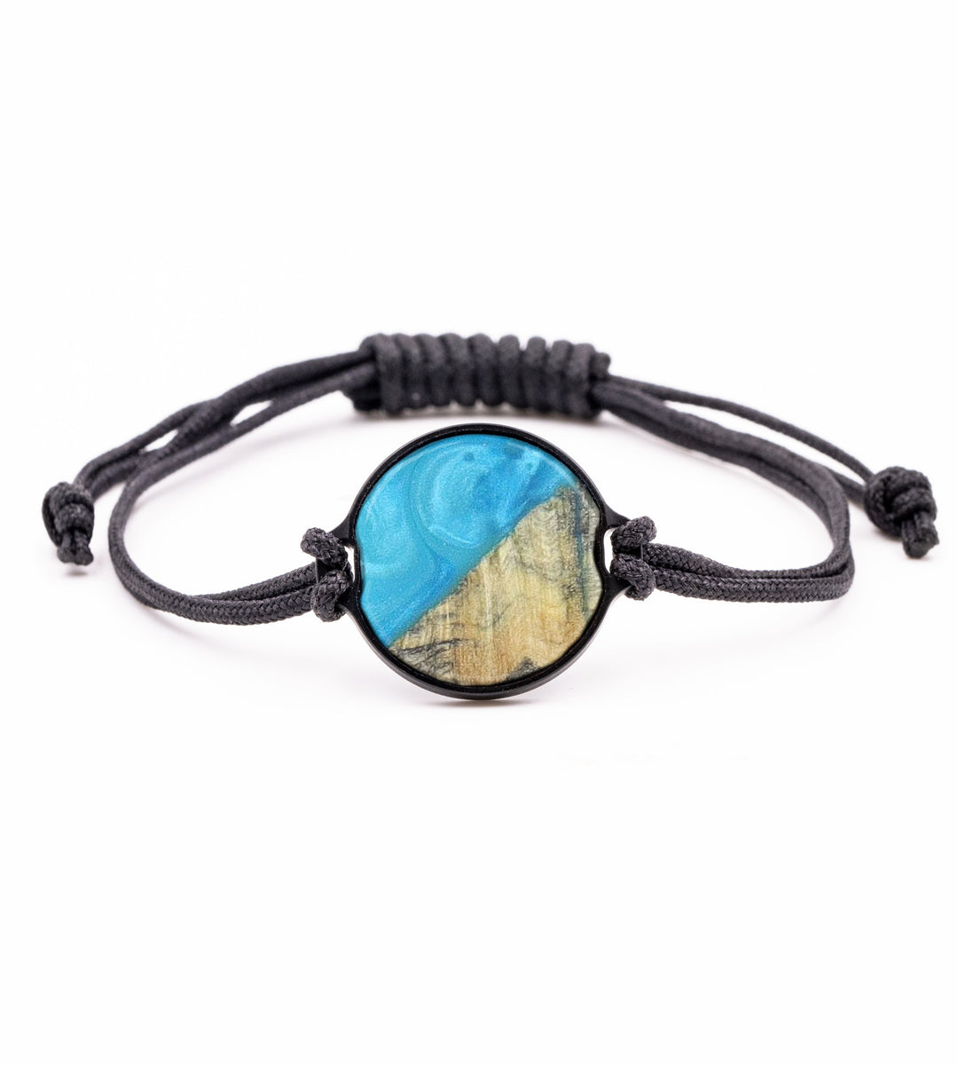 Circle Wood+Resin Bracelet - Shuang (Light Blue, 423192)