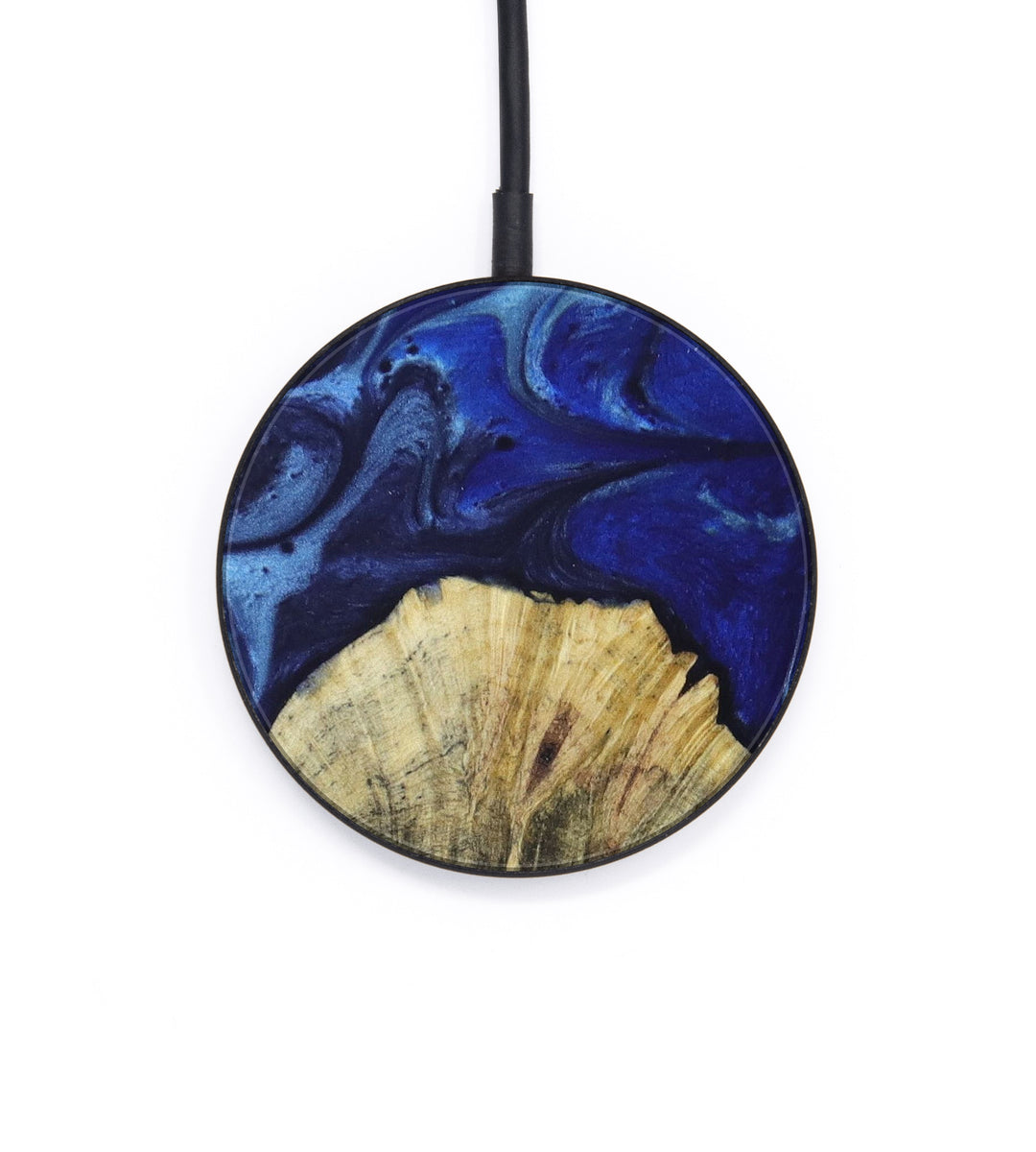 Circle Wood+Resin Wireless Charger - Tamera (Dark Blue, 392862)