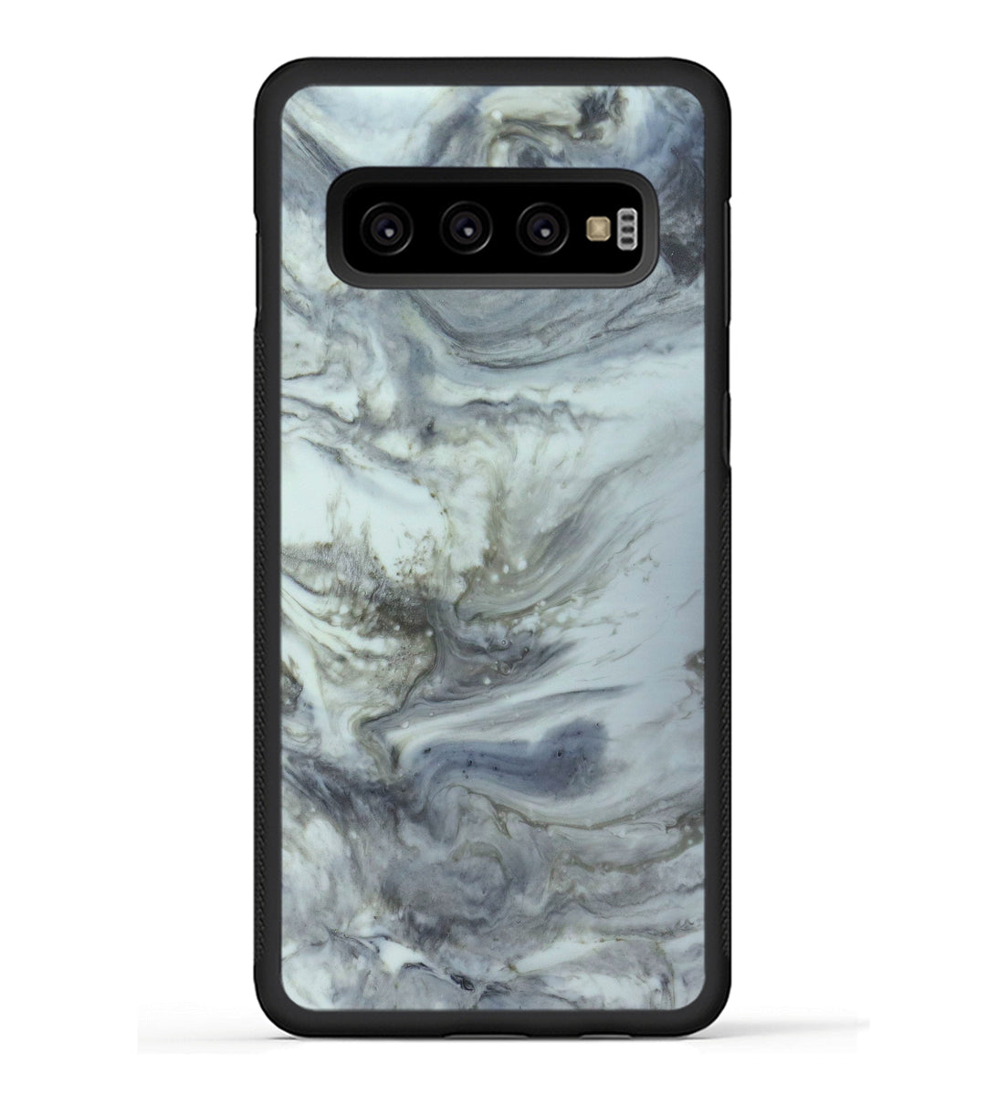 Galaxy S10 ResinArt Phone Case - Roselle (Black & White, 347832)