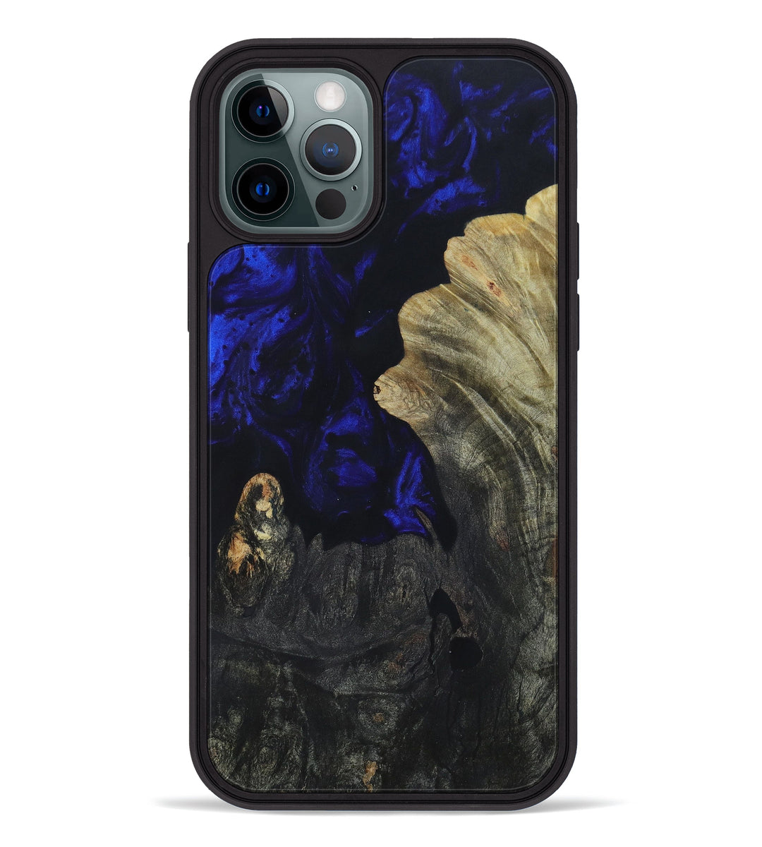 iPhone 12 Pro Wood+Resin Phone Case - Todd (Dark Blue, 396131)