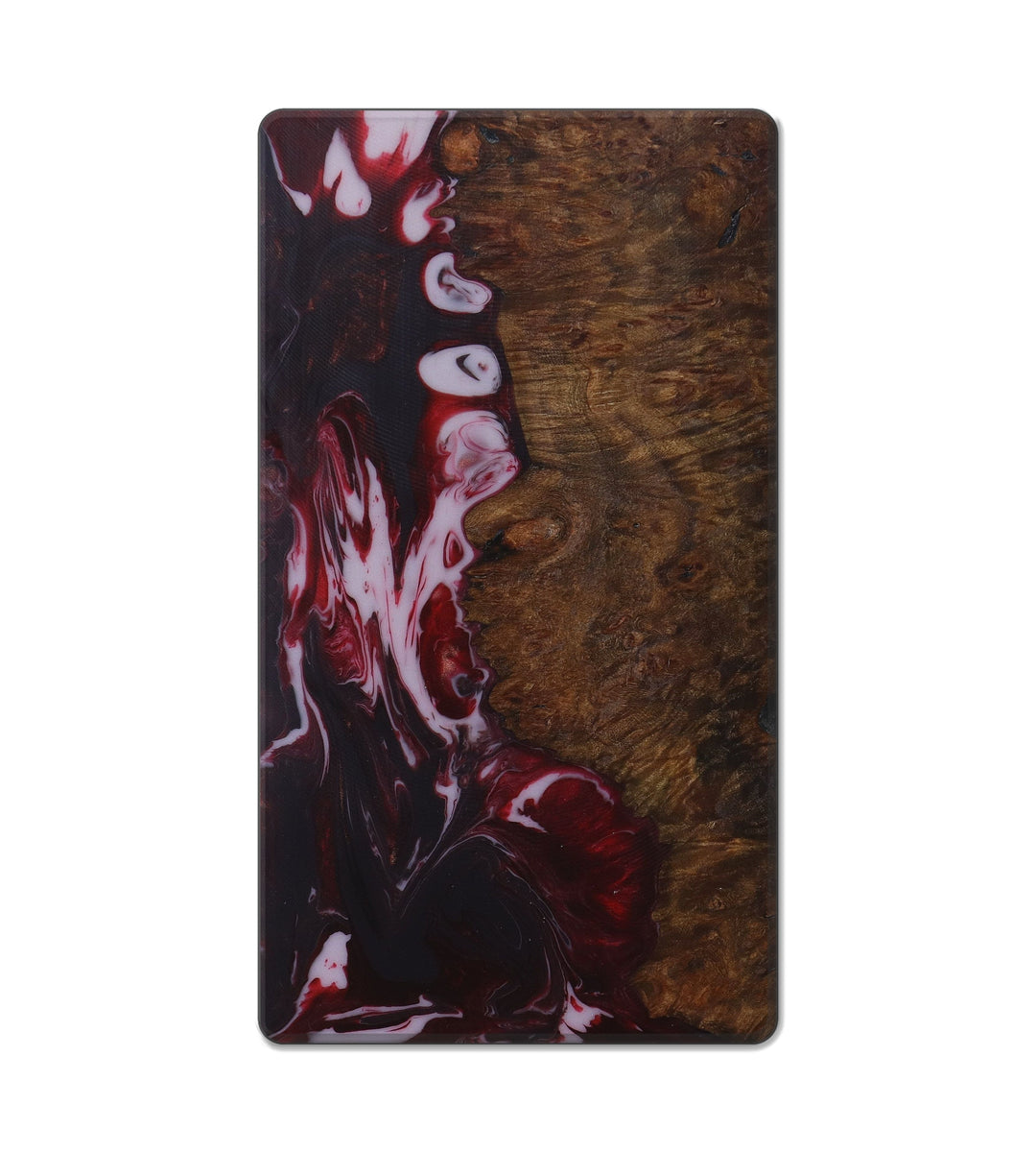 Custom Block Wood+Resin Live Edge - Ellen (Dark Red, 419162)
