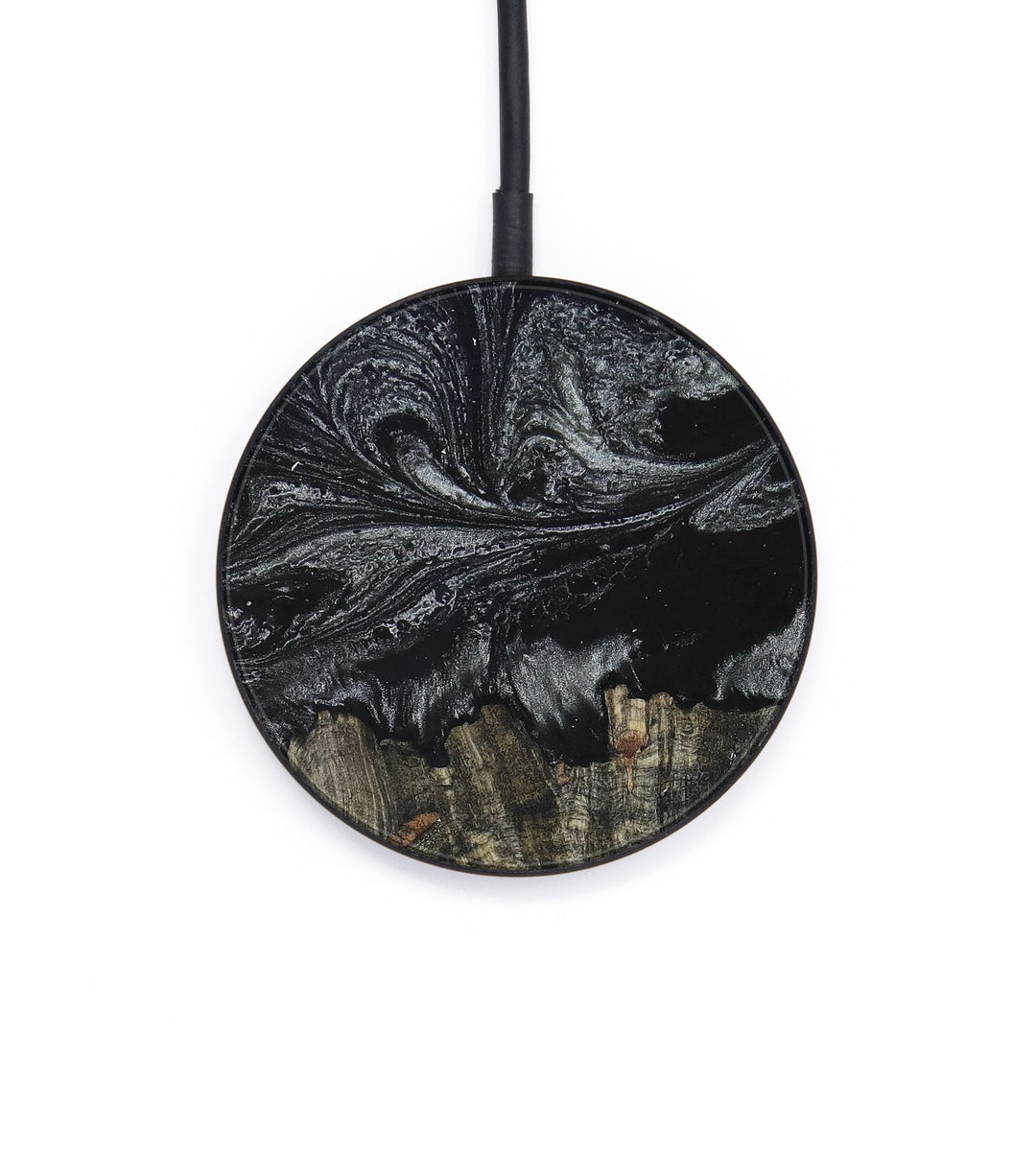Circle Wood+Resin Wireless Charger - Jonell (Black & White, 391604)