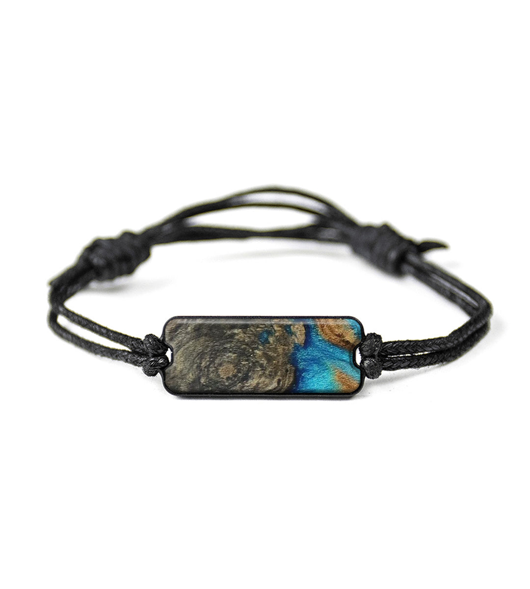 Classic Wood+Resin Bracelet - Whitney (Teal & Gold, 395437)