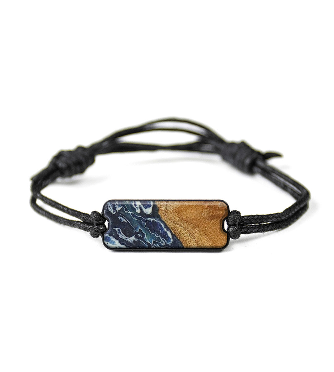 Classic Wood+Resin Bracelet - Parminder (Dark Blue, 358160)