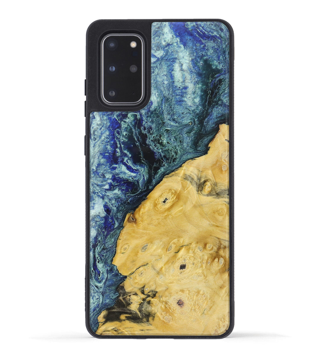 Galaxy S20 Plus Wood+Resin Phone Case - Rici (Dark Blue, 349368)