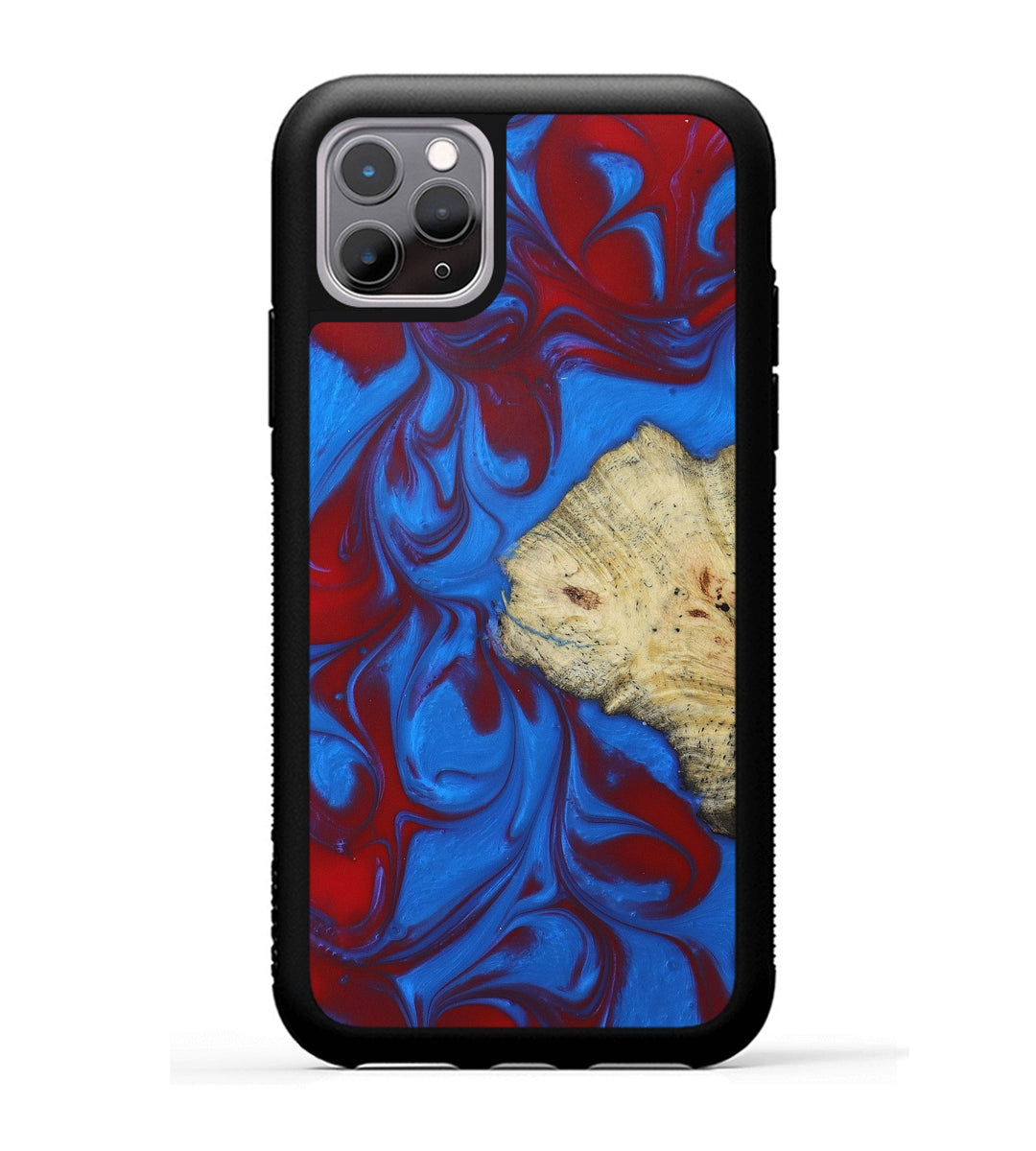 iPhone 11 Pro Wood+Resin Phone Case - Durali (Blue & Red, 399479)