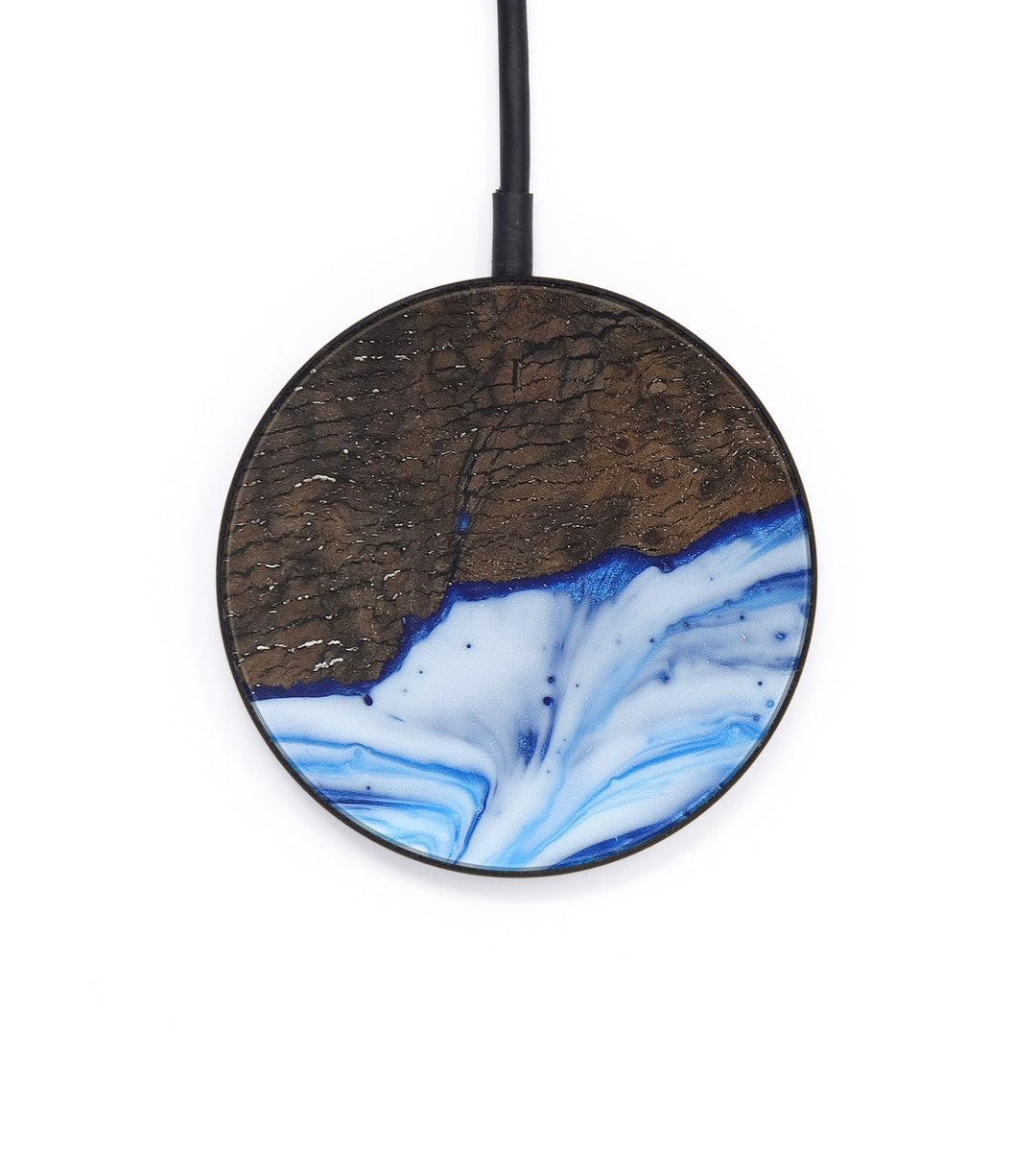 Circle Wood+Resin Wireless Charger - Barbie (Light Blue, 393671)