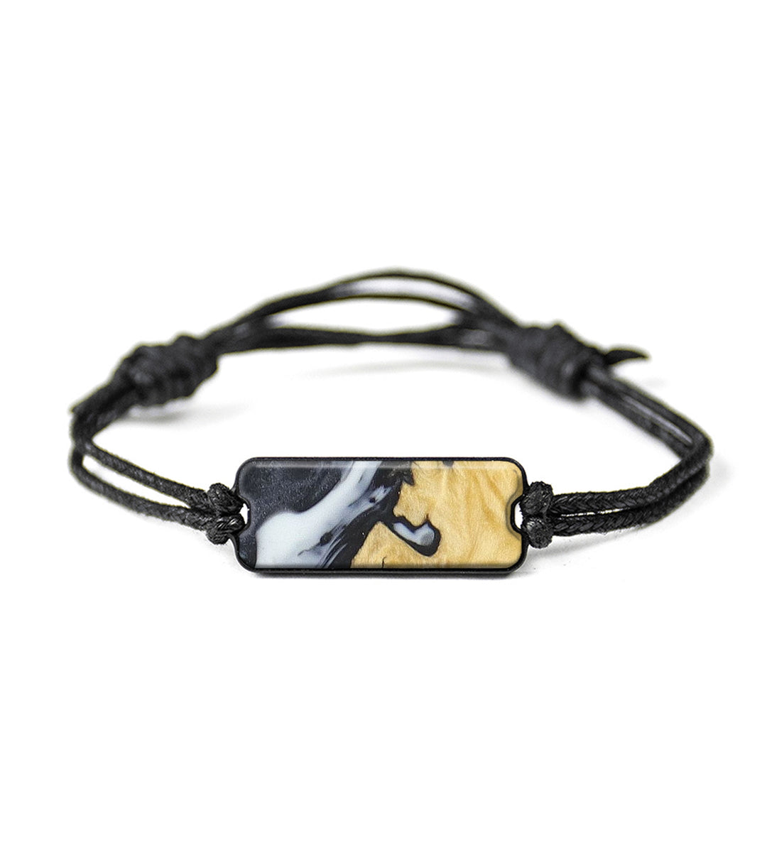 Classic Wood+Resin Bracelet - Letta (Black & White, 368576)