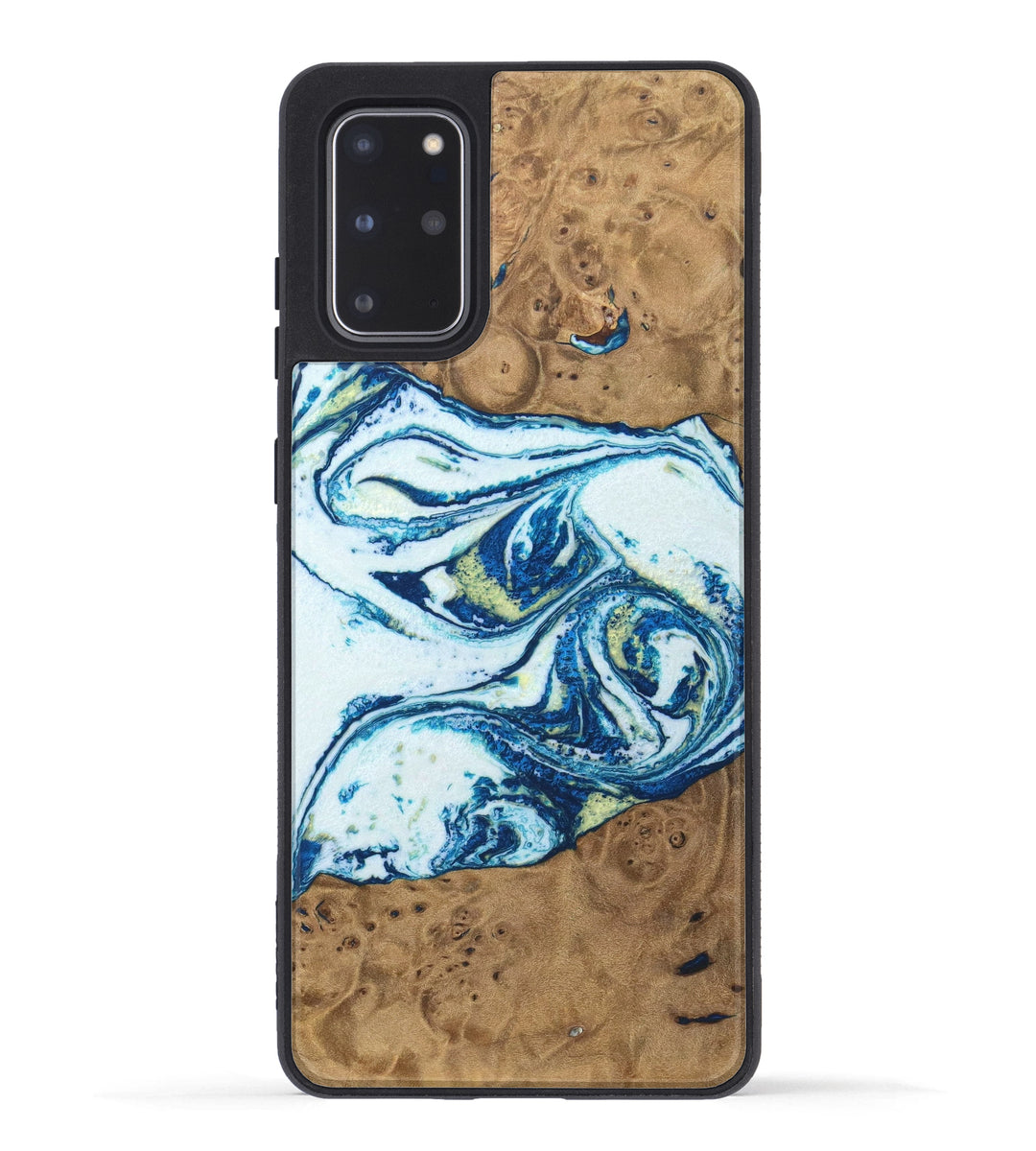 Galaxy S20 Plus Wood+Resin Case - Kerstin (Dark Blue, 333977)