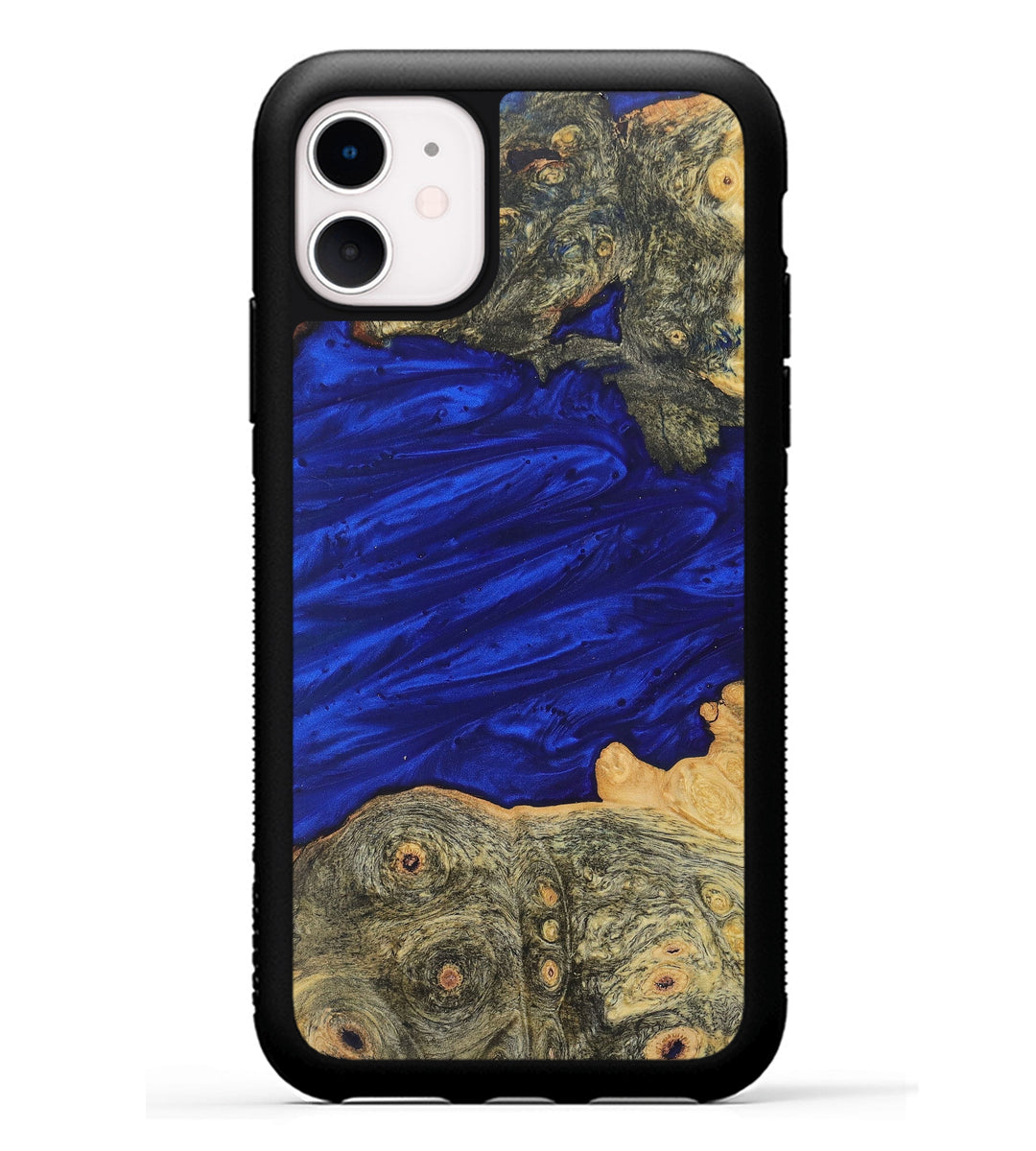iPhone 11 Wood+Resin Phone Case - Holly (Dark Blue, 368216)
