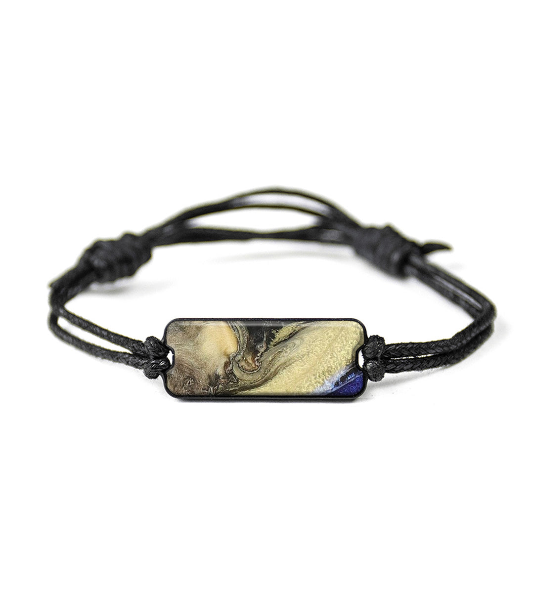 Classic Wood+Resin Bracelet - Doroteya (Dark Blue, 358164)