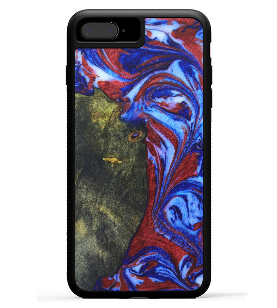 iPhone 8 Plus Wood+Resin Case - Junette (Blue & Red, 331713)
