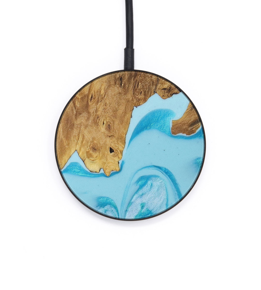Circle Wood+Resin Wireless Charger - Karole (Light Blue, 404455)