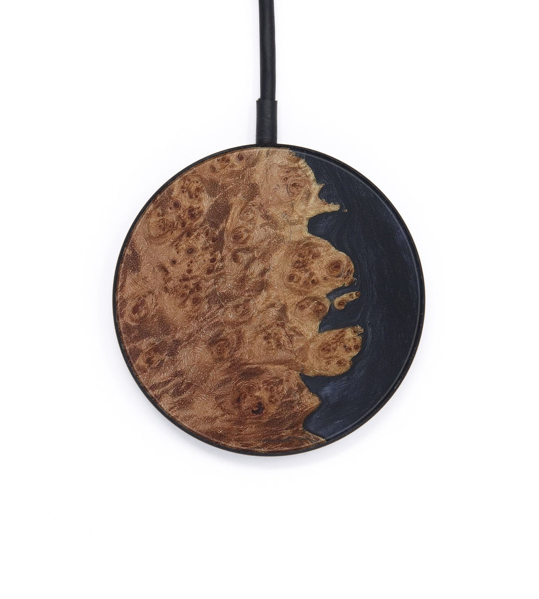 Circle Wood+Resin Wireless Charger - Nenad (Pure Black, 408810)