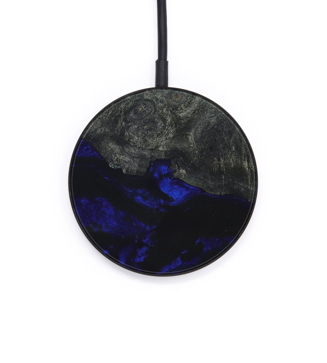 Circle Wood+Resin Wireless Charger - Fleurette (Dark Blue, 393326)