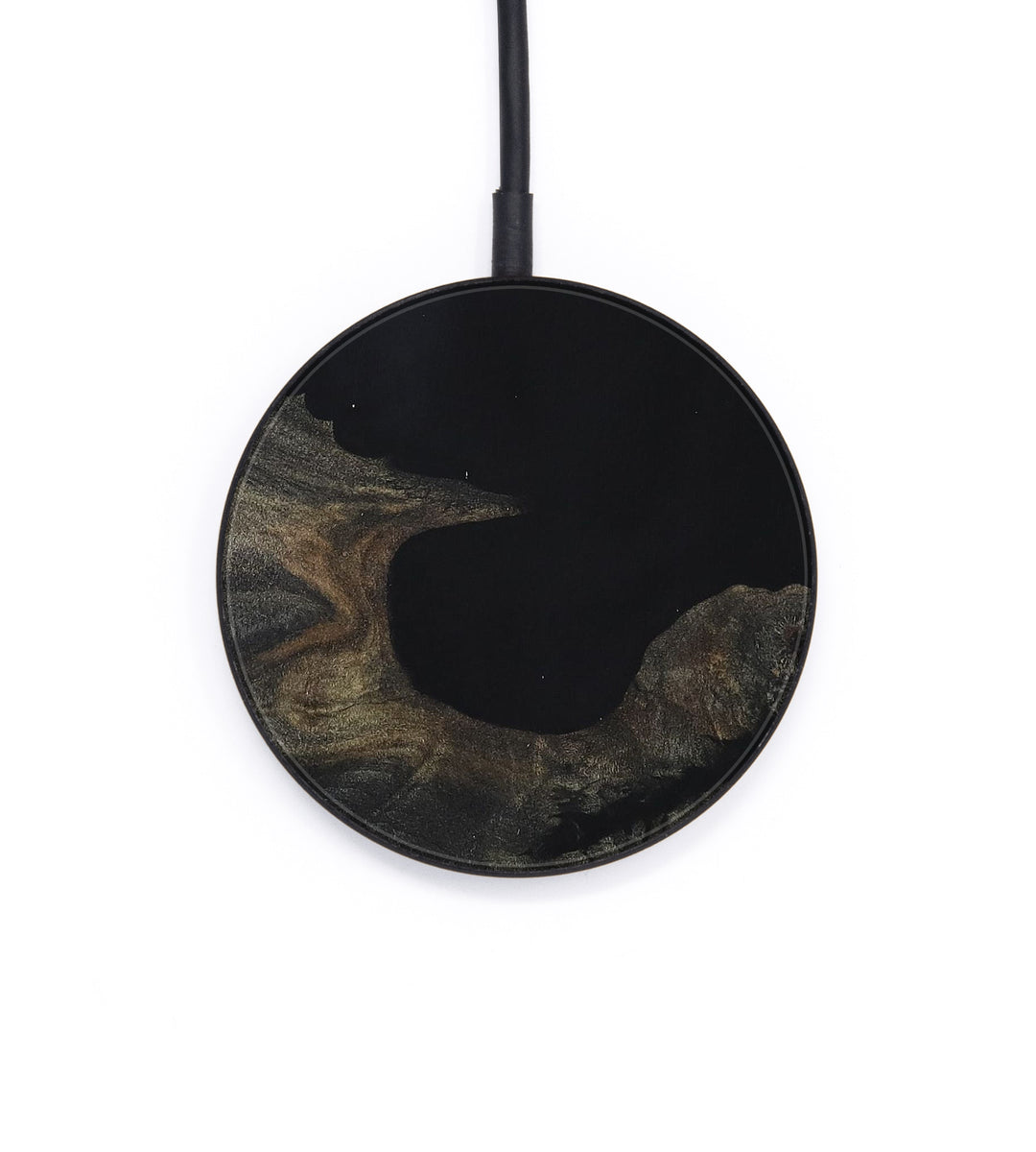 Circle Wood+Resin Wireless Charger - Perry (Pure Black, 393275)