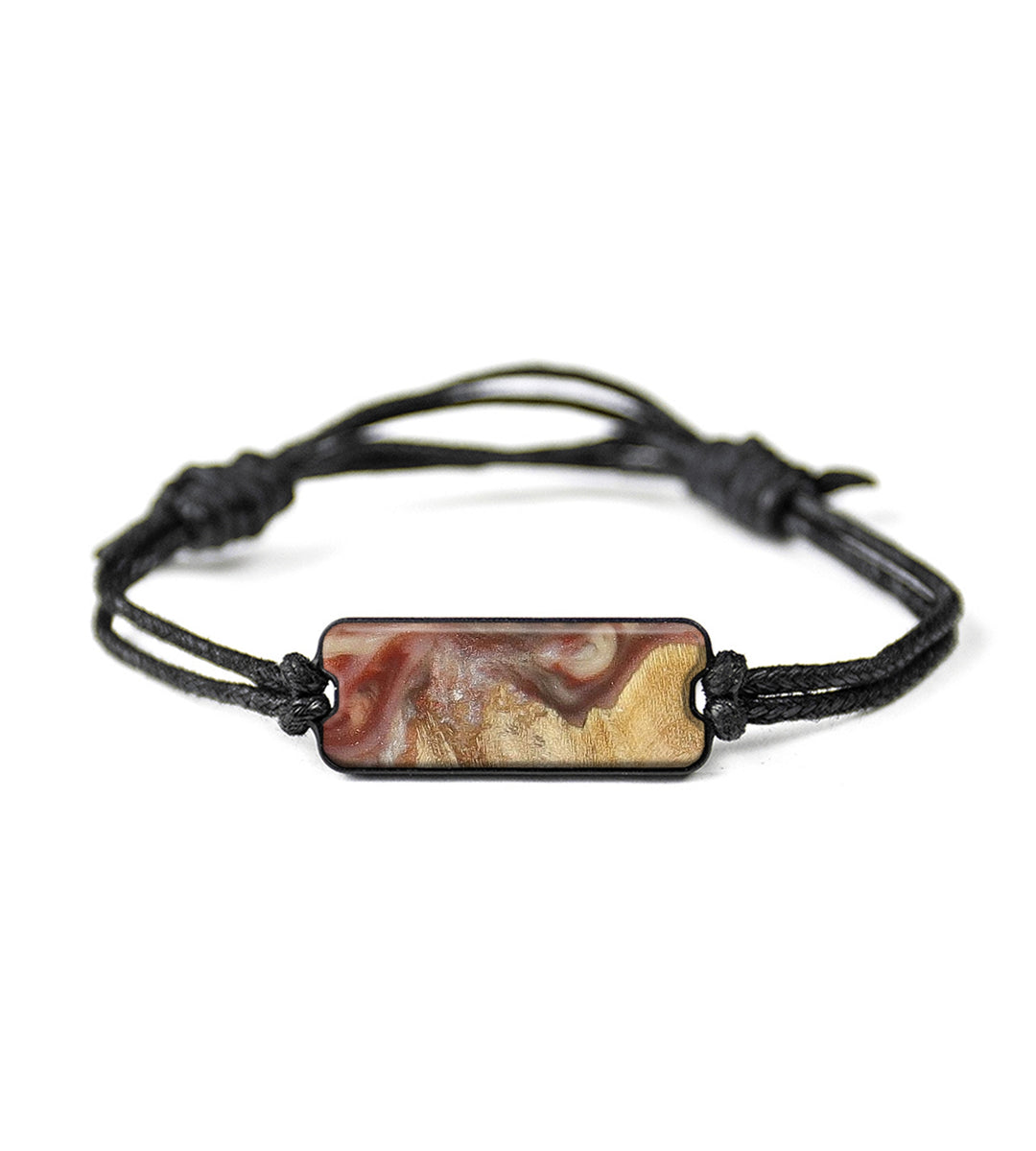 Classic Wood+Resin Bracelet - Pankesh (Dark Red, 358243)