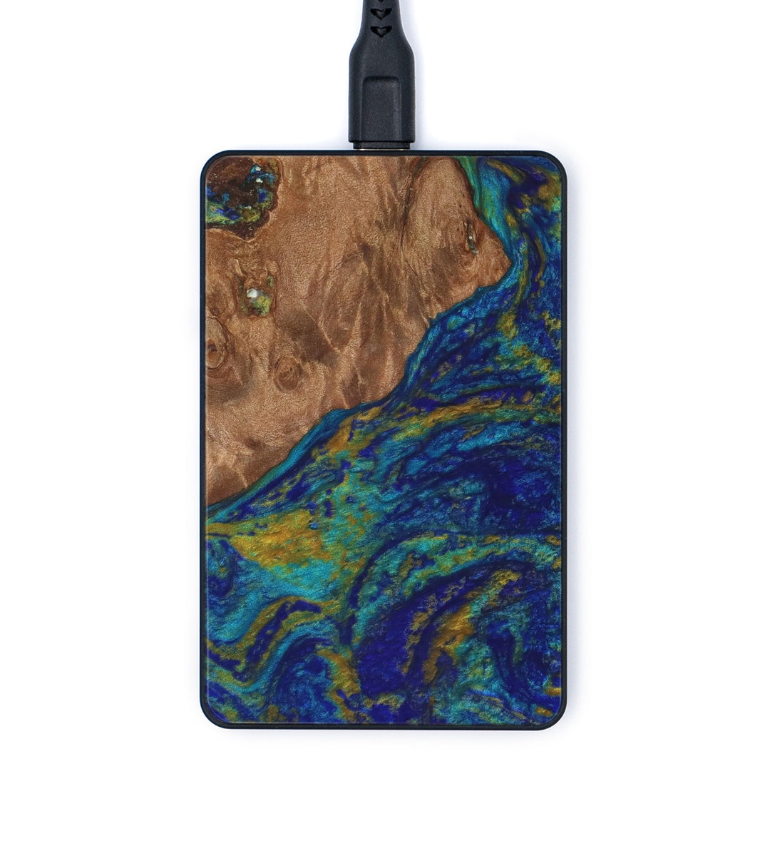 Thin Wireless Charger - Blaine (Teal & Gold, 335135)