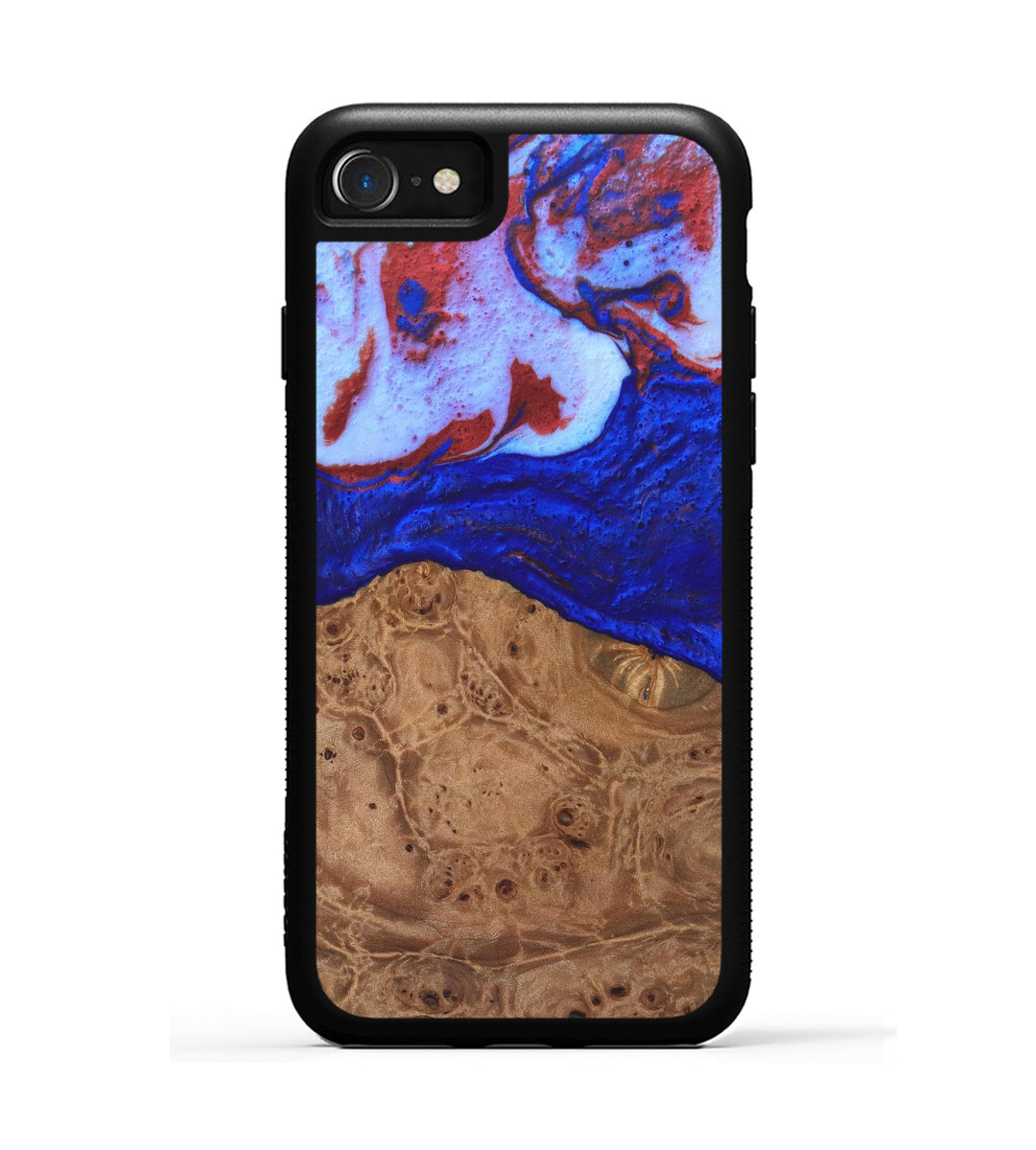 iPhone 8 Wood+Resin Case - Robertson (Blue & Red, 334389)