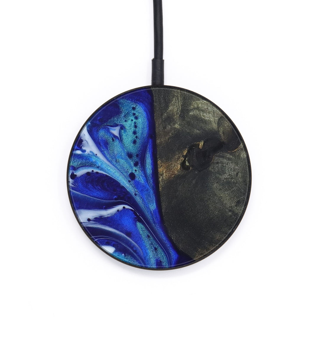 Circle Wood+Resin Wireless Charger - Rosalinda (Dark Blue, 404415)