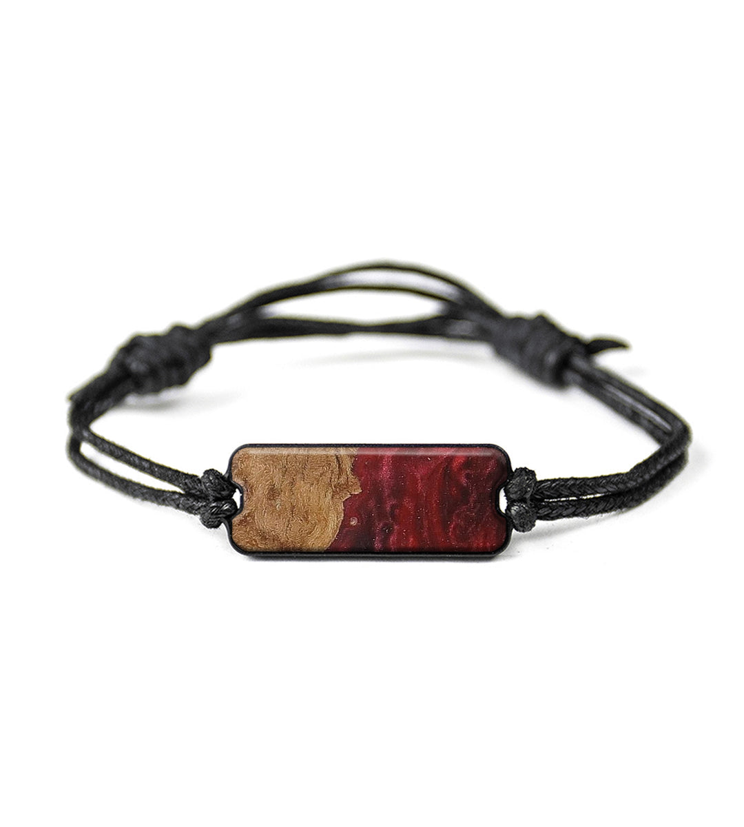 Classic Wood+Resin Bracelet - Renu (Dark Red, 368842)